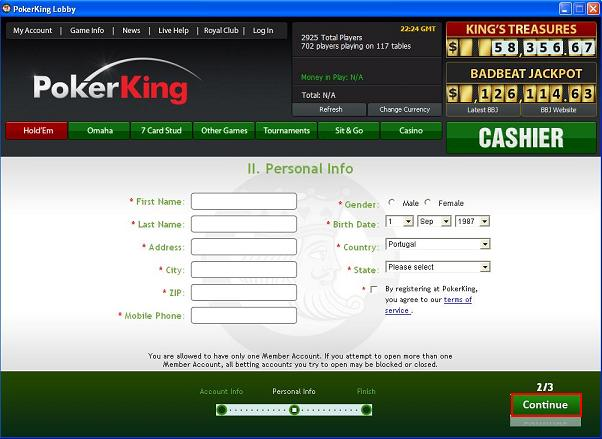 Бездепозитный бонус на pokerkings